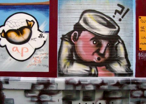 Brussels Belgium street art prison dreaming