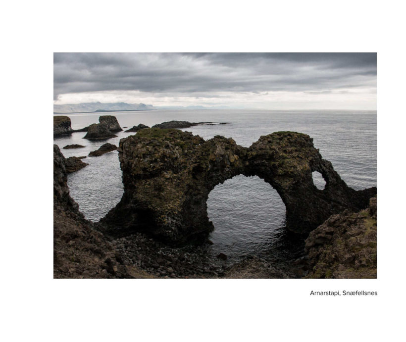 A spread from Ísland - a photographic book of the Icelandic summer
