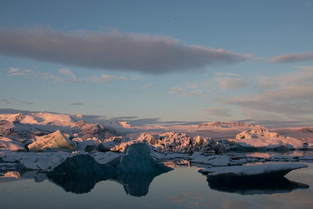 7837 Dawn at Jökulsárlón glacier lagoon, Iceland