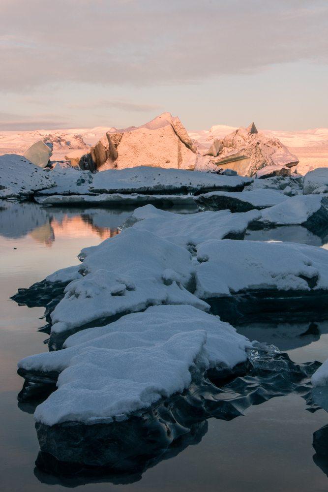7921 Dawn at Jökulsárlón glacier lagoon, Iceland