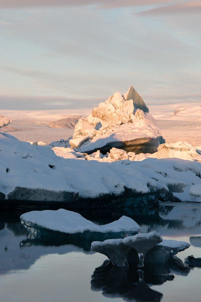 7978 Dawn at Jökulsárlón glacier lagoon, Iceland