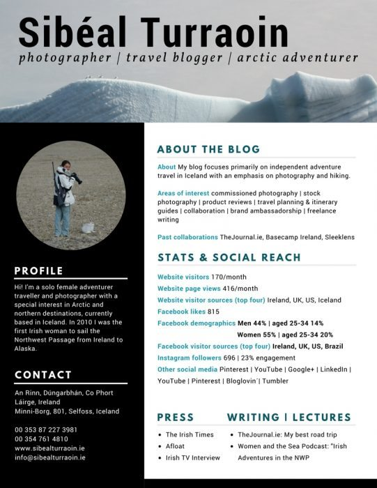 Sibeal Turraoin Photographer Media Kit
