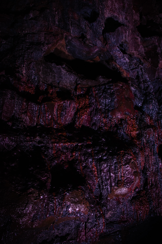 The Lava Tube Inside an Icelandic lava tunnel