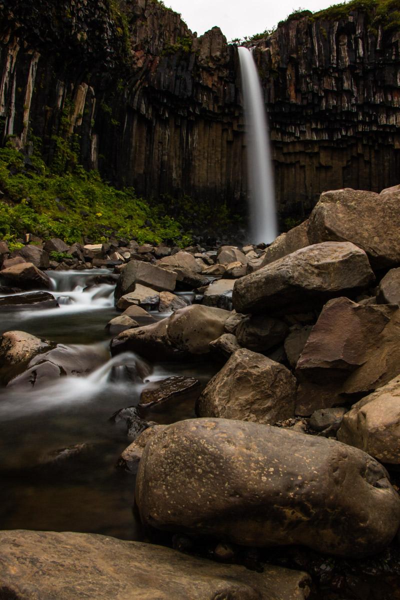 Svartifoss waterfall, Skaftafell, Vatnajökull National Park, Iceland