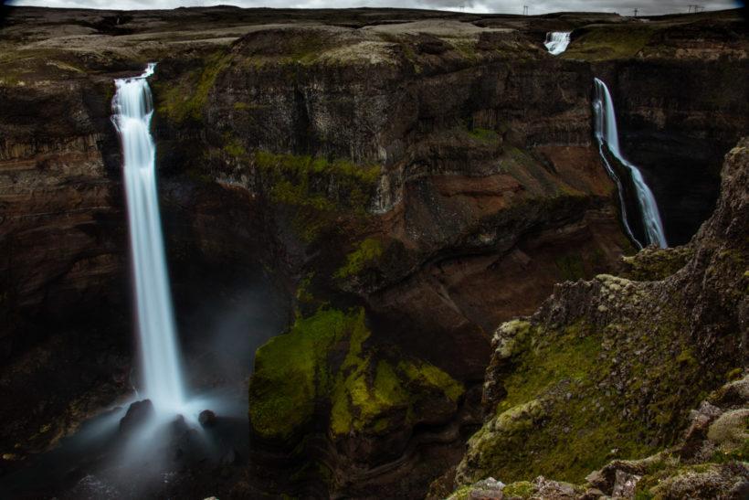 Háifoss, Iceland, the fourth highest waterfall of the island, after Morsárfoss, Glymur and Hengifoss.