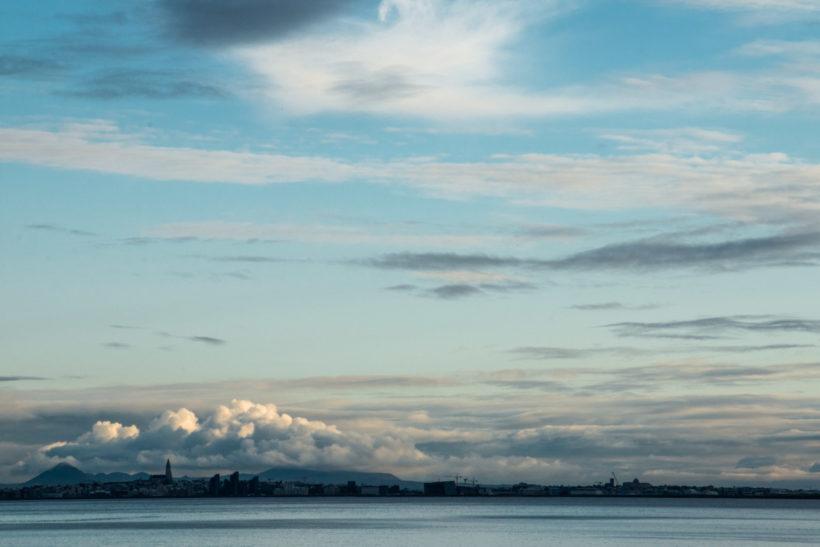 View of Reykjavík across Faxaflói Bay, Iceland