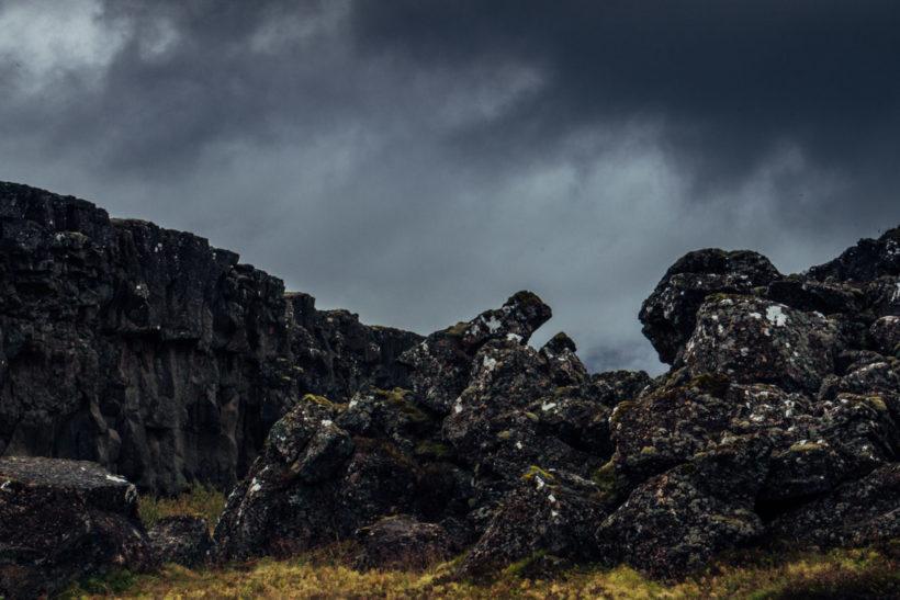 Dark and moody landscape, Mid-Atlantic Ridge, Þingvellir - Thingvellir, Iceland