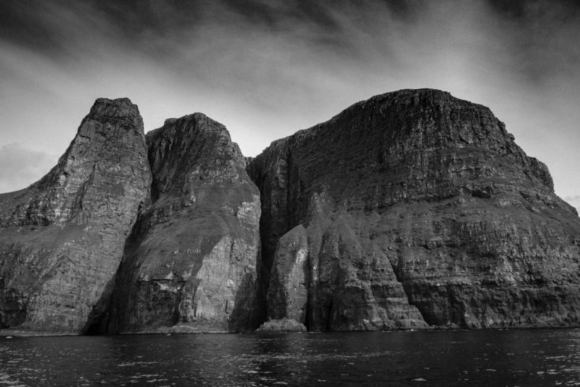 The towering cliffs Vestmannabjørgini, Vestmanna, Streymoy, Faroe Islands