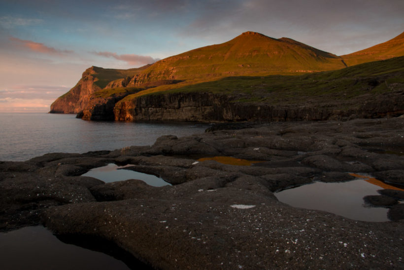 Sunset at Eiði, Eysturoy, Faroe Islands