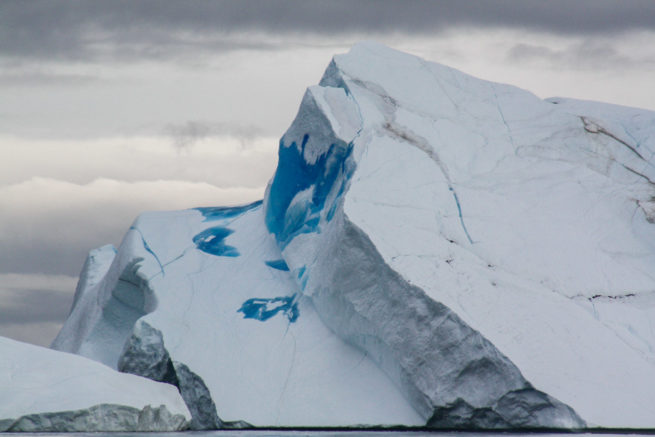 Blue iceberg, The voyage from Oqaatsut (Rode Bay) to Saqqaq, Kalaallit Nunaat (Greenland)