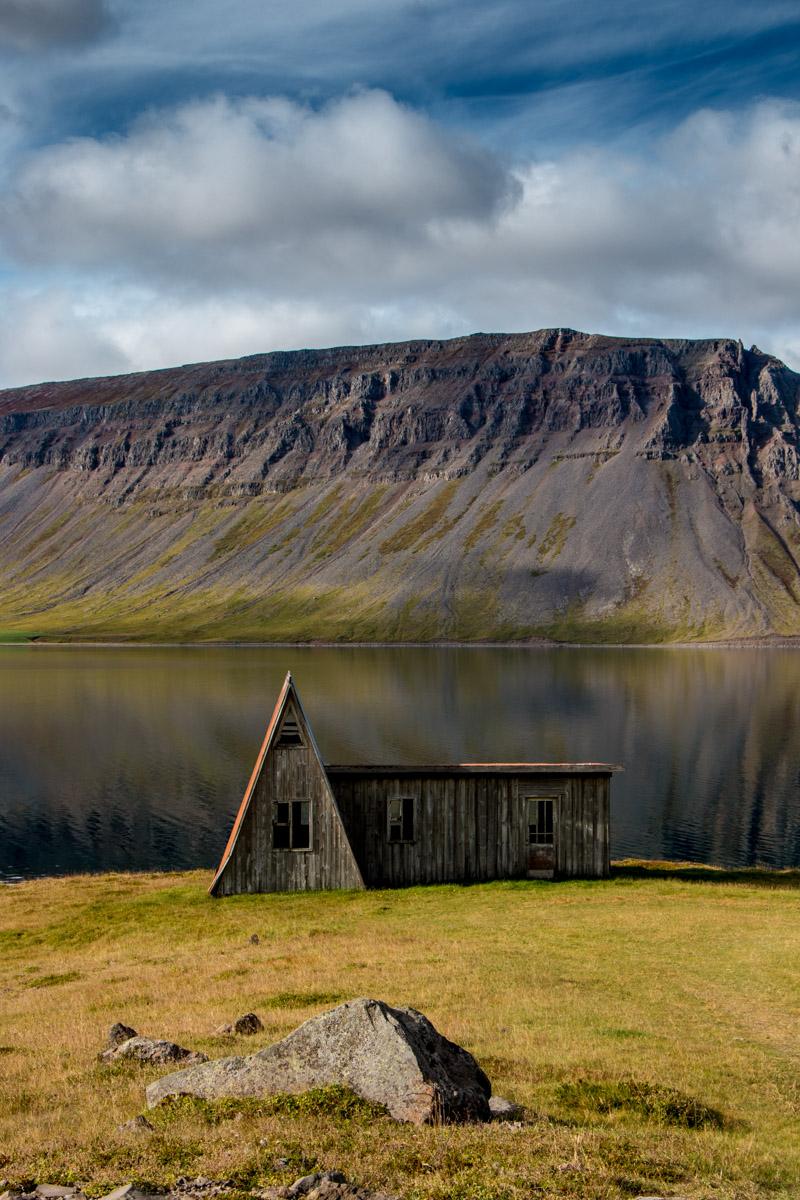 Cute Icelandic summer cabin house, Arnafjörður, Westfjords, Iceland