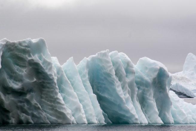 Melting ridged iceberg, Upernaviks Isfjord, Kalaallit Nunaat - Greenland
