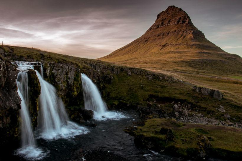 Kirkjufell Mountain and Kirkjufellsfoss, Iceland