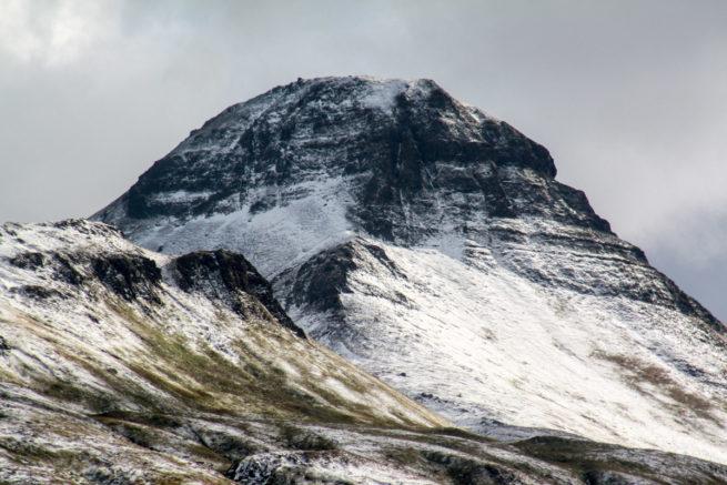 Snowy mountains, Unalaska, Alaska