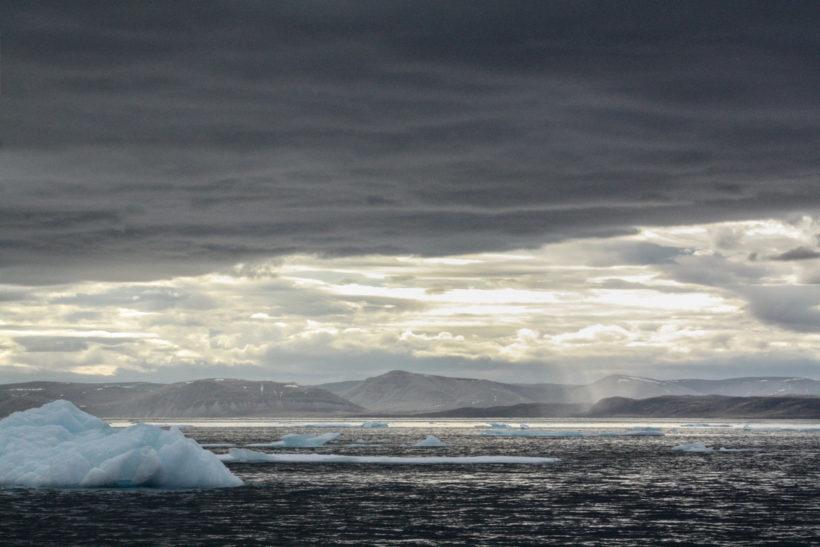 Icebergs, Navy Board Inlet, Nunavut, Canada