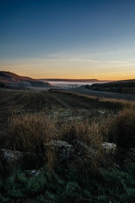 Dawn outside Hornillos del Camino, Camino de Santiago.