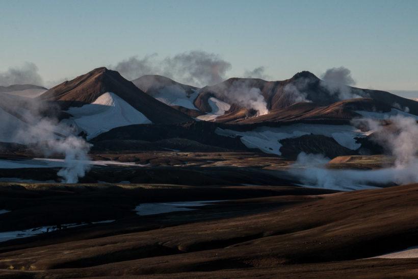 Smokey Valley in the early morning light, Landmannalaugar, Laugavegur Trail, Iceland