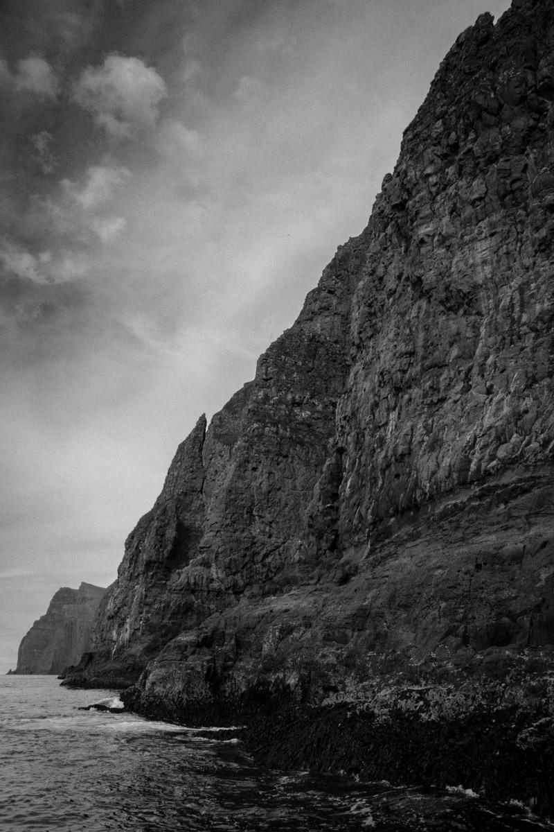 Towering cliffs at Vestmannabjørgini, Vestmanna, Streymoy, Faroe Islands