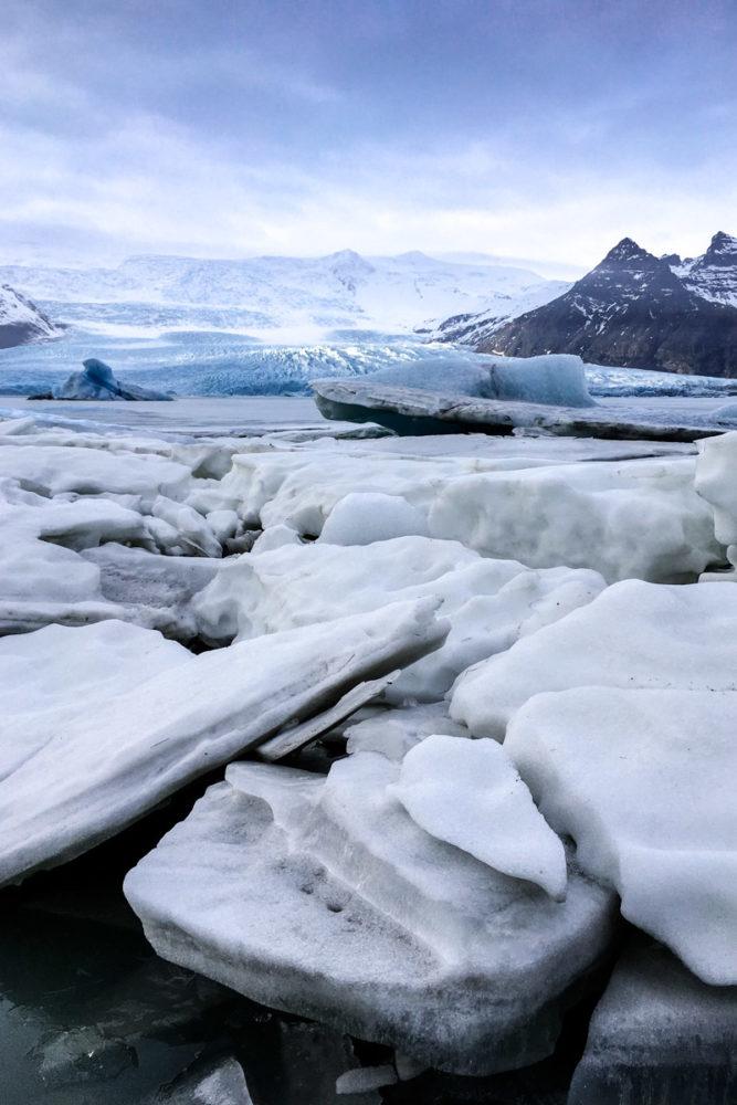 Icebergs, Fjallsárlón Glacier Lagoon, Iceland.