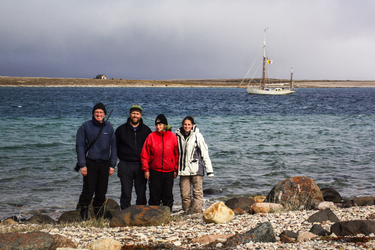 Young Larry crew on Teddy Bear Island, Northwest Territories, Canada
